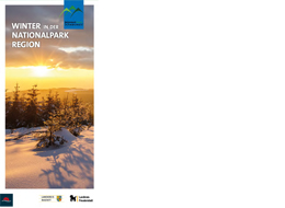 Titel Faltblatt Winter in der Nationalpark Region