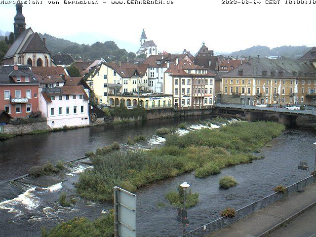 Ansicht Murgpartie - Gernsbach-Webcam